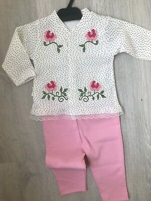 UK SELLER Baby rose girls clothes outfit set top bottom pants leggings casul