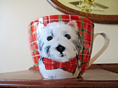 Westie Large 20 Oz Christmas Soup/ Hot Chocolate Mug West Highland White Terrier