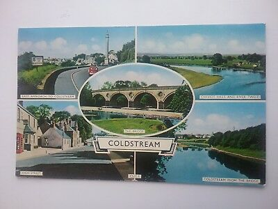 1962 Lilywhite Multiview Postcard of Coldstream Berwickshire