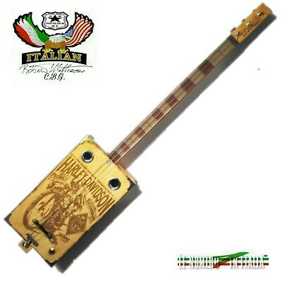 Cigar Box Guitar JOE PETRALI HARLEY DAVIDSON 3S-P