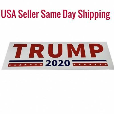 2-Donald Trump For President 2020 White Bumper Stickers Keep Make America Great