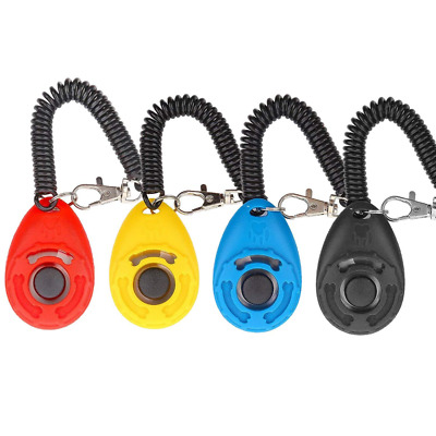 Dog Clicker, [4 PCS, Multi-Color] Diyife Training with Wrist Strap for Cat Horse