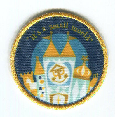 DISNEYLAND Attraction Patch IT'S A SMALL WORLD