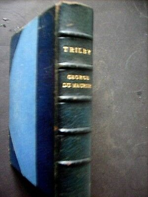 TRILBY A NOVEL BY GEORGE DU MAURIER 1895 1st ILLUSTRATED EDITION HALF LEATHER