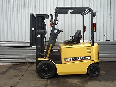 CAT EP20K. 4300mm LIFT USED ELECTRIC FORKLIFT TRUCK. (#2000)