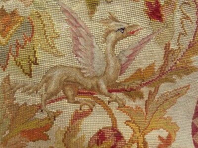 """19th Century Hand Made French Original Wool Needle Point Tapestry c.1860 16x92"""""""