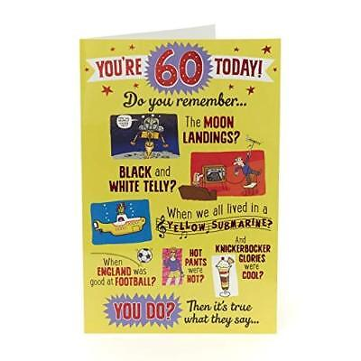 Funny 60th Birthday Card - 60 Today Do Your Remember?