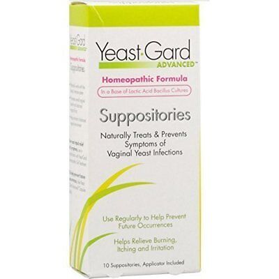 Yeast-Gard Women's Advanced Homeopathic Formula Suppositories 10 Ea (Pack of 6)