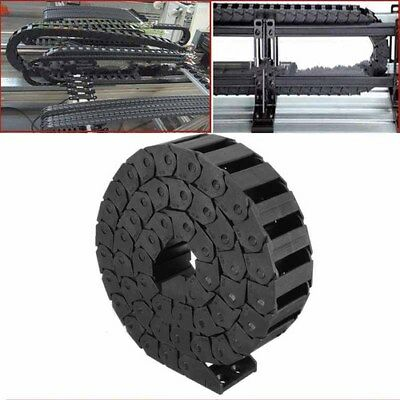 1M 15x30mm Plastic Nylon Drag Chain Towline Carrier Wire Cable CNC Machine Tool