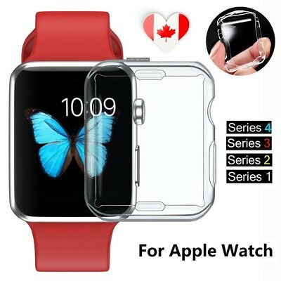 Clear Case Cover Screen Protector for iWatch 40/44mm Apple Watch