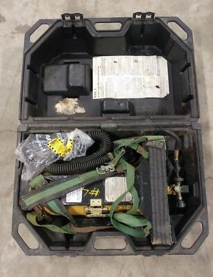 MSA Model 401 SCBA Mask Air Mask Tank Self Contained Breathing Apparatus Case