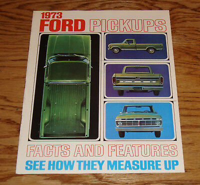 Original 1973 Ford Truck Pickup Facts & Features Sales Brochure 73 F-100 250 350
