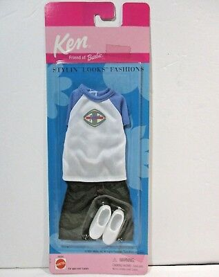 Ken Doll Stylin' Looks Fashions 2001 Mint on Card Clothes - Friend of Barbie