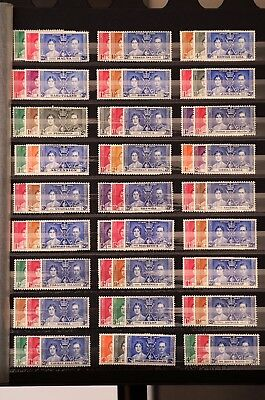 143 Briefmarken Stamps 1937 The Coronation of King George VI and Queen Elizabeth