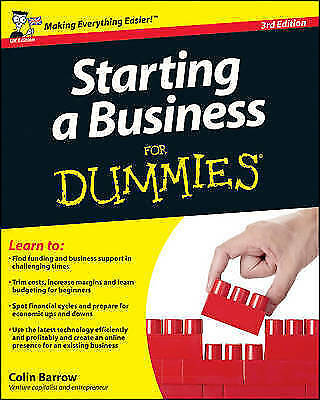 Starting a Business For Dummies, Acceptable, Barrow, Colin, Book