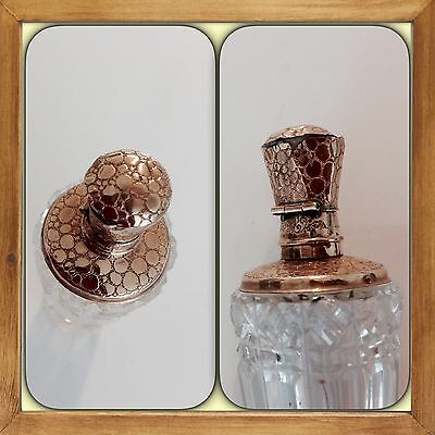 Antique Dutch Perfume bottle 14k gold & Glass