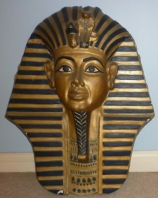 Large Vintage Egyptian Revival King Tut Plaster Mask Good Condition Pick Up Only
