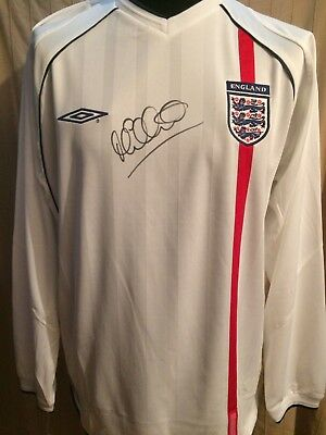 f934e8135 England 5 Germany 1 2001 Shirt Signed By Michael Owen With Letter Of  Guarantee