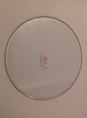 Clock Glass Bevelled Flat Round 106mm 2mm BevelClockmakers Spare Part