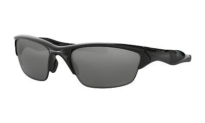 Oakley OO9144-04 Men's Half Jacket 2.0 Sunglasses Black Polarized Iridium Lens