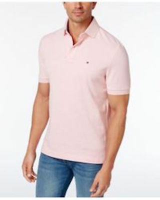 4333b045e Tommy Hilfiger Men s Classic Fit Ivy Polo Shirt Rose Shadow Heather  49