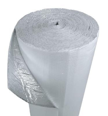 """500sqft 48""""x125' White Single Bubble Reflective Foil Insulation Thermal Barrier"""