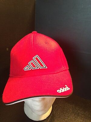 28a21966d002d B40) Adidas Red Adj. Adhesive Strap Hat For Adults One Size Fits All New