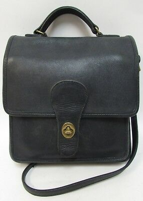 ... promo code for authentic vintage coach navy blue leather crossbody  station purse bag 325 66d67 3895f 6dc3137732c44