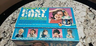 1968 Vintge Kenner's New Easy Curl Quick Hair Setting Kit
