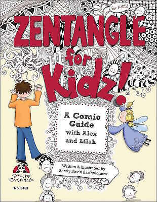 Design Originals Zentangle for Kidz! 3463 Paperback Book Art Draw NEW!