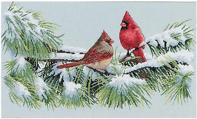 Dimensions Needlecrafts 35178 Winter Cardinals Counted Cross Stitch Kit