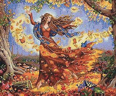 Dimensions Needlecrafts 35262 Fall Fairy Counted Cross Stitch Kit