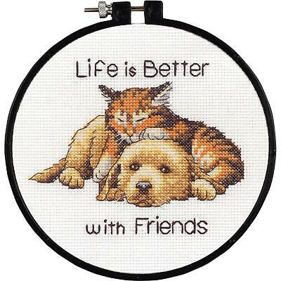 Dimensions Learn-A-Craft 72-73545 Life Is Good Counted Cross Stitch Kit