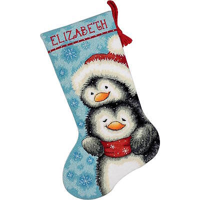 Dimensions 9144 Hugging Penguins Stocking Needlepoint Kit Stitch