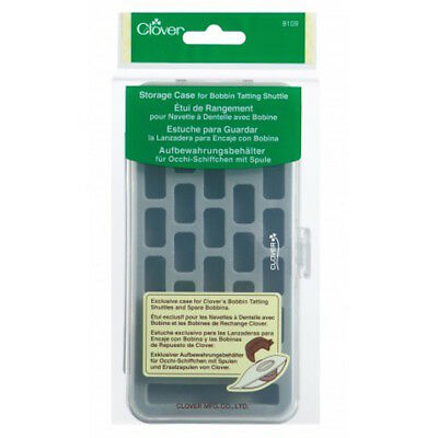 Clover 8109 Storage Case for Spare Bobbins Tatting Shuttles New