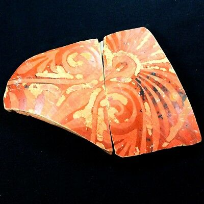 "Beautiful Ancient Greek Pottery Shard 350 - 250 BC. Measures 6.5"" x 4"" gr294"