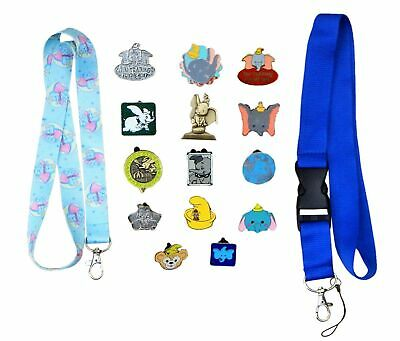 Dumbo Themed Starter Lanyard Set with 5 Disney Trading Park Pins ~ Brand NEW