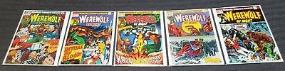 Werewolf By Night Marvel 6, 7, 8, 9 and 10 Lot of 5