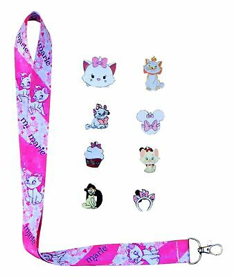 Aristocats Marie Lanyard and 5 Disney Park Trading Pins Starter Set ~ Brand NEW
