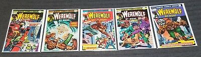 Werewolf By Night Marvel 21, 22, 23, 24 and 25 Lot of 5