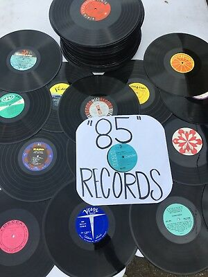 "Bulk Lot of (85) 12"" - 33 rpm LP VINYL Records For ART CRAFTS & DECORATIONS ONLY"