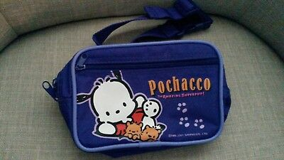 Vintage 2001 Sanrio Pochacco Dog Purple Fanny Pack Belt Bag Purse Hello Kitty