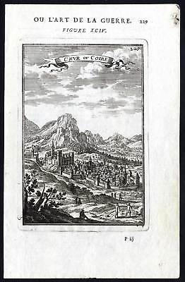 Antique Print-PLATE 94-MILITARY ENGINEERING-CHUR-SWITZERLAND-FORT-Mallet-1685