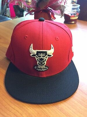 d16fd1fe New Era 59Fifty Cap NBA Chicago Bulls Mens Windy City Black Red Fitted Hat  5950