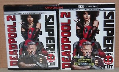 Deadpool 2: Super Duper Cut (4K Ultra HD+Blu-ray+Digital) Brand New w/Slipcover