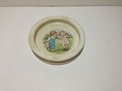 Buffalo pottery cereal bowl boy & girl Dolly Dingle Dollie Dimple childrens dish