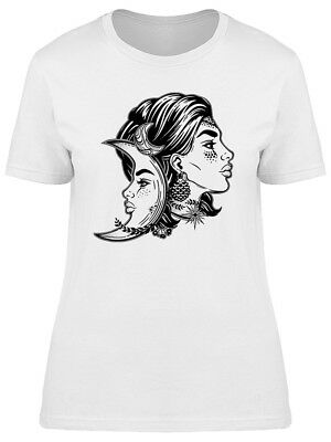Magic Fairy Crescent Moon Icon Women's Tee -Image by Shutterstock