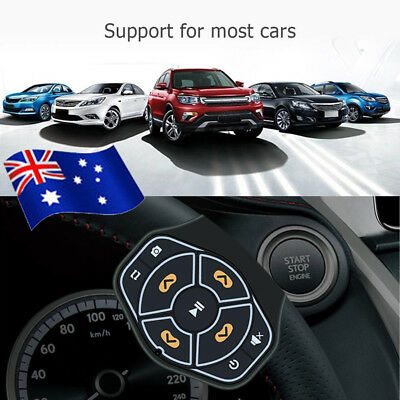 Wireless Car Steering Wheel Bluetooth 4.0 Remote Control Player for Android IOS