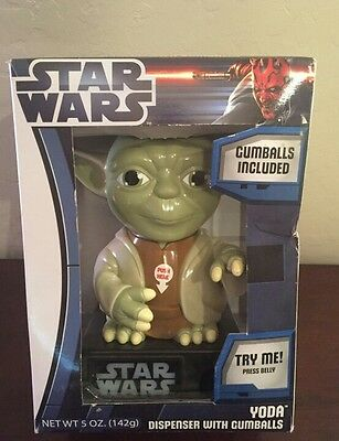 "Star Wars Yoda 9"" Gumball Machine BRAND NEW"