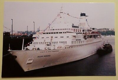 mv Pacific Princess . Cruise Line . Ocean Liner Vessel Ship NY Love Boat TV Star